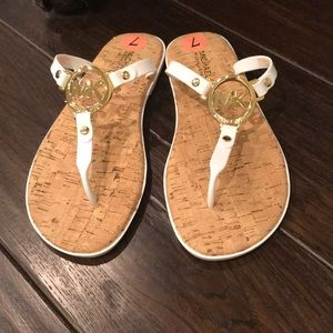 Michael Kors MK Charm Jelly Thong Sandals